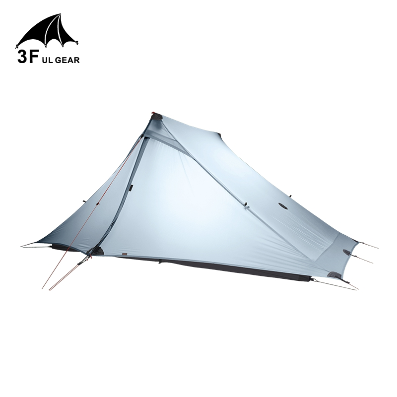 3F UL Gear Lanshan 2 Pro Rodless Tent 20D Silicone Ultralight Waterproof 3 Season 2 Person Tents For Outdoor Camping Hiking image