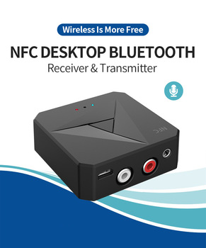 M21 2-in-1 Bluetooth Transmitter NFC Bluetooth 5.0 Receiver 3.5mm AUX Jack RCA Music Wireless Audio Adapter Handsfree Call Mic