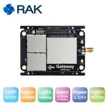 Iot lora base do módulo de gateway em sx1301 transmissão de espectro de propagação sem fio que envia o módulo do nó lorawan, interface usb spi q137