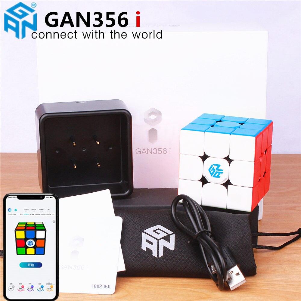 GAN356 eu Magnético Magic Speed Cube GAN356i Estação Ímãs Cubos de Competição Online GAN 356 i
