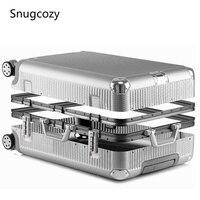 Snugcozy 100% aluminium rahmen hardside reise koffer auf rad reisetaschen Super mode NEUE spinner trolley gepäck tasche