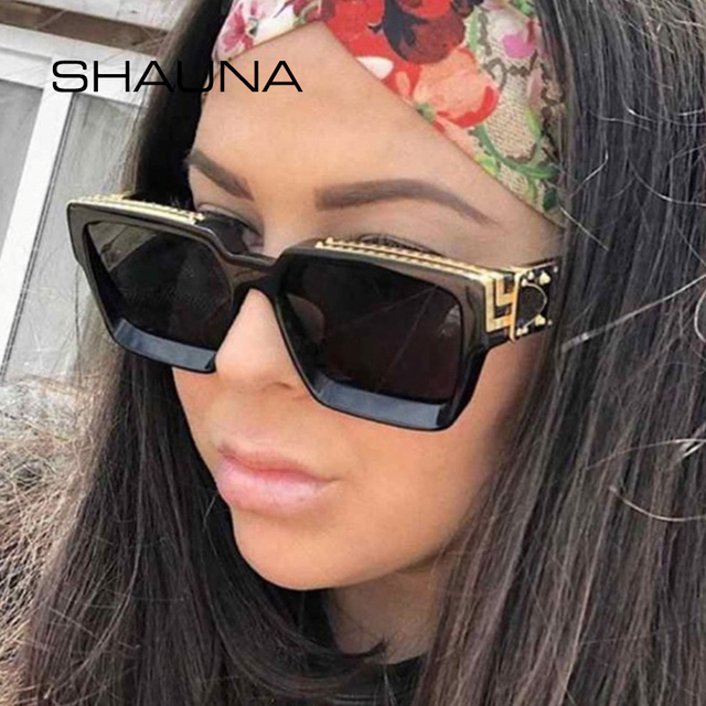 Retro Square Sunglasses Women Ins Popular Sun Glasses Men UV400 2
