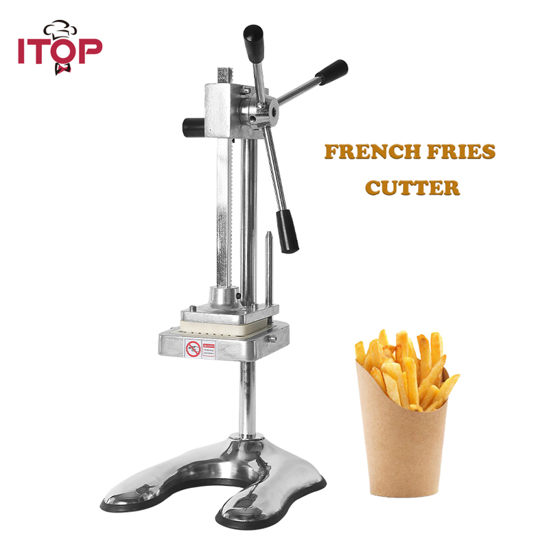 ITOP Vertical Potato Chip Cutter Potato Carrot Shredding Machine French Fries Cutter Vegetable Fruit Tools 6mm 9mm 13mm
