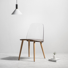 Modern creative restaurant dining chair office meeting transparent home study learning lounge