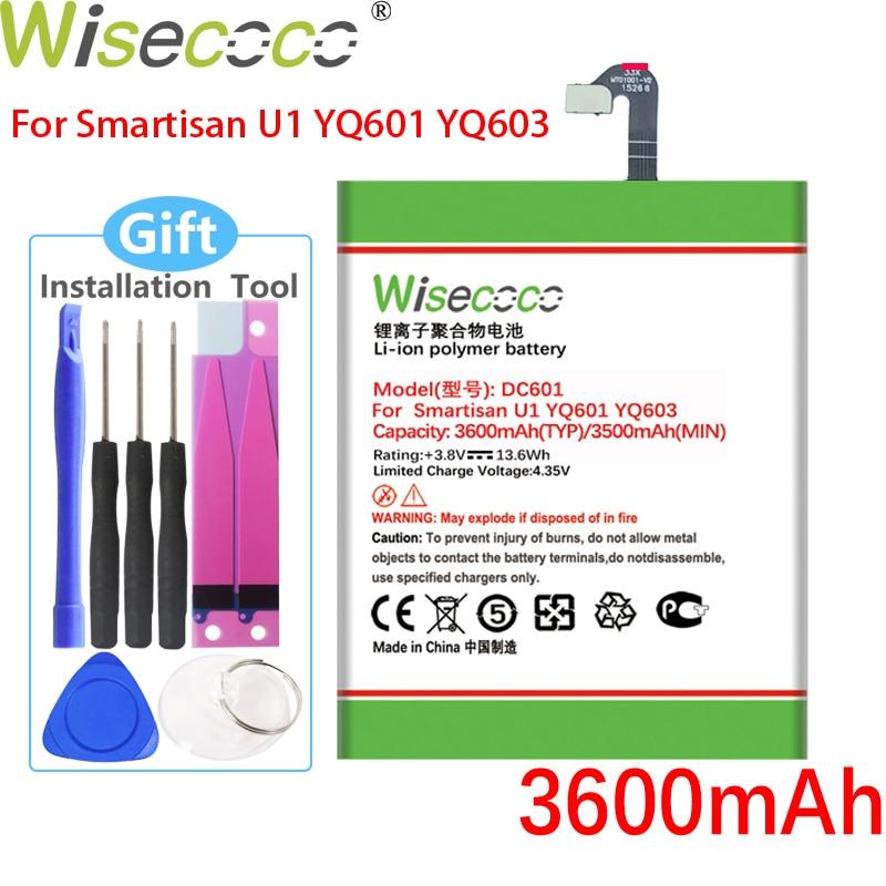 Батарея WISECOCO 3600 мАч DC601 для Smartisan U1 YQ601 YQ603 YQ605 YQ607 DC601 мобильный телефон + номер для отслеживания
