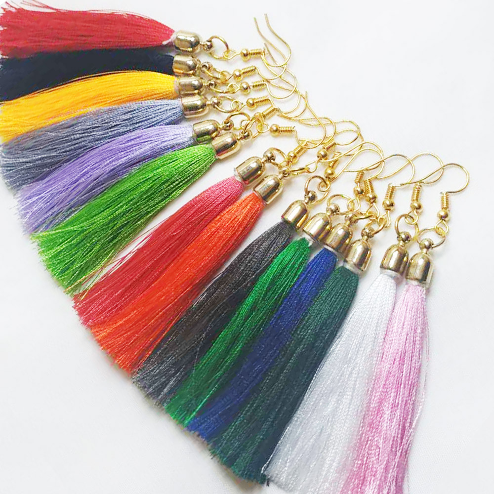 2020 Zaolaixi Vintage Ethnic Long Tassel Earrings Set  Fashion Geometric  Simple Dangle Drop Earrings For Women Earring Hooks