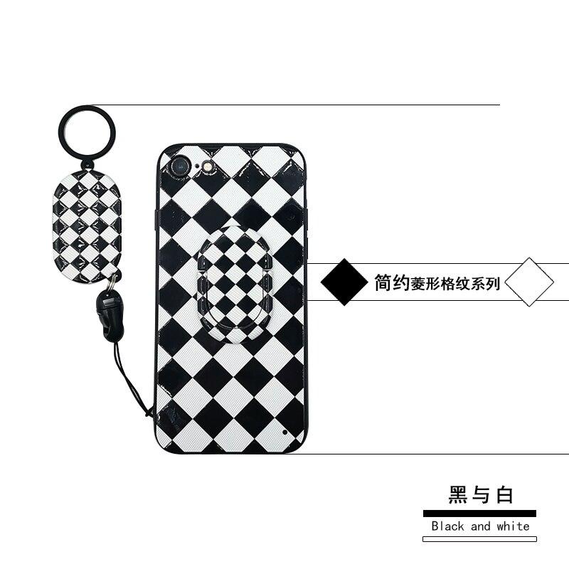 Puntino di Polka Della Banda Anello di Barretta Kickstand Copertura Dura di Caso Per Motorola Moto C MotoC Bianco Nero Geometrica del Modello Custodie Anti shock