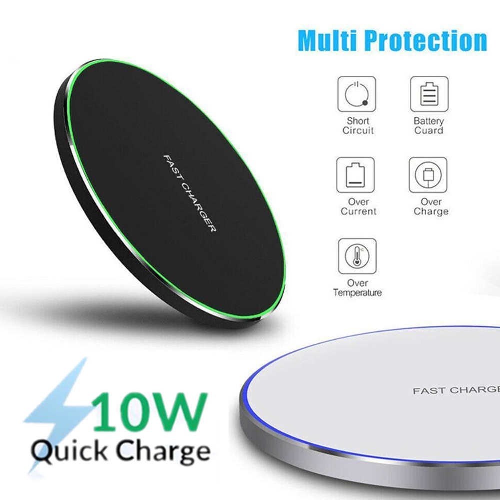 10W Qi Fast Wireless Charger for Doogee S90 Quick Qi Chargeur Induction for iphone X 11 Pro Oukitel WP1 Koolnee K3 Charg Holder(China)