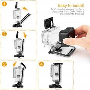 Image 4 - Accessoire Kit Voor Gopro Hero 8 Zwart Waterdichte Behuizing Case Gehard Glas Screen Protector Filter Kit Voor Go Pro Accessoires