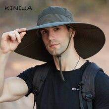 Большая шляпа от солнца с полями Панама быстросохнущая УФ для