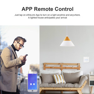 Image 3 - Itead SONOFF Smart Touch Schalter T0EU 1/2/3 Gang Wifi Wand Licht Schalter Glas Fernbedienung WorkWith Alexa Google Home e Welink