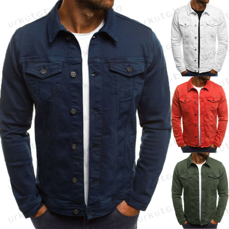 Men's Autumn Jacket Casual Outdoor Sportswear Work Classic Military Jacket With Pockets Cotton Canvas Laydown Trucker Jacket