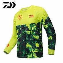 Daiwa Рыболовная одежда Джерси мотоцикл мото футболка с длинным рукавом бездорожье Джерси полиэстер рыболовная рубашка анти-УФ