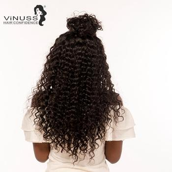 Vinuss Full Lace Human Hair Wigs For Black Women deep wave Lace Front Wigs Brazilian Remy Pre Plucked Bleached Knots 1
