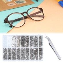 1000PCS/Lot Glasses Repair Screw Assorted Kit Spectacles Watch Glasses Sunglasses Repair Tool Kit Used For Fixing Glasses/Watche