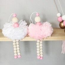 Милый шар, украшение для детской спальни, деревянные бусины, настенные украшения, детская кровать, палатка, декор для комнаты, реквизит для детской фотосъемки