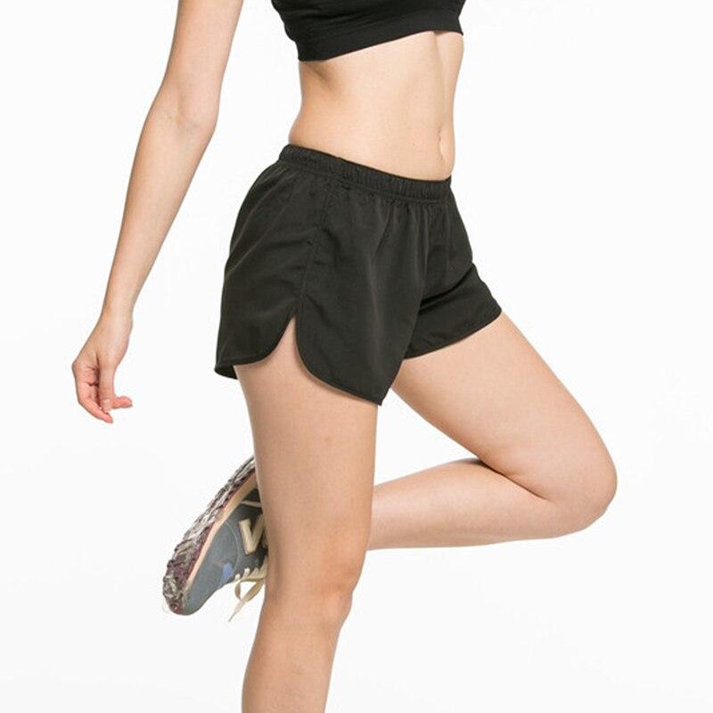 VISNXGI Summer Exercise Gym Shorts Women Quick Dry Shorts Professional Sports Running Elastic Waist Workout Black Training Short