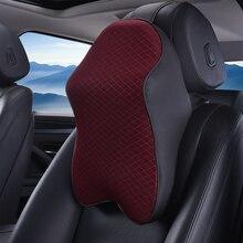 Car Neck Pillow Adjustable Head Restraint 3D Memory Foam Auto Headrest Travel Pillow Neck Support Holder Seat Covers Car Styling