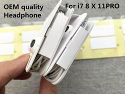 10 Pçs/lote Qualidade Original fone de ouvido na orelha do fone de ouvido com Microfone Remoto Para o iphone xs X 7/8 7/11 8plus Pro Com Embalagem de Varejo