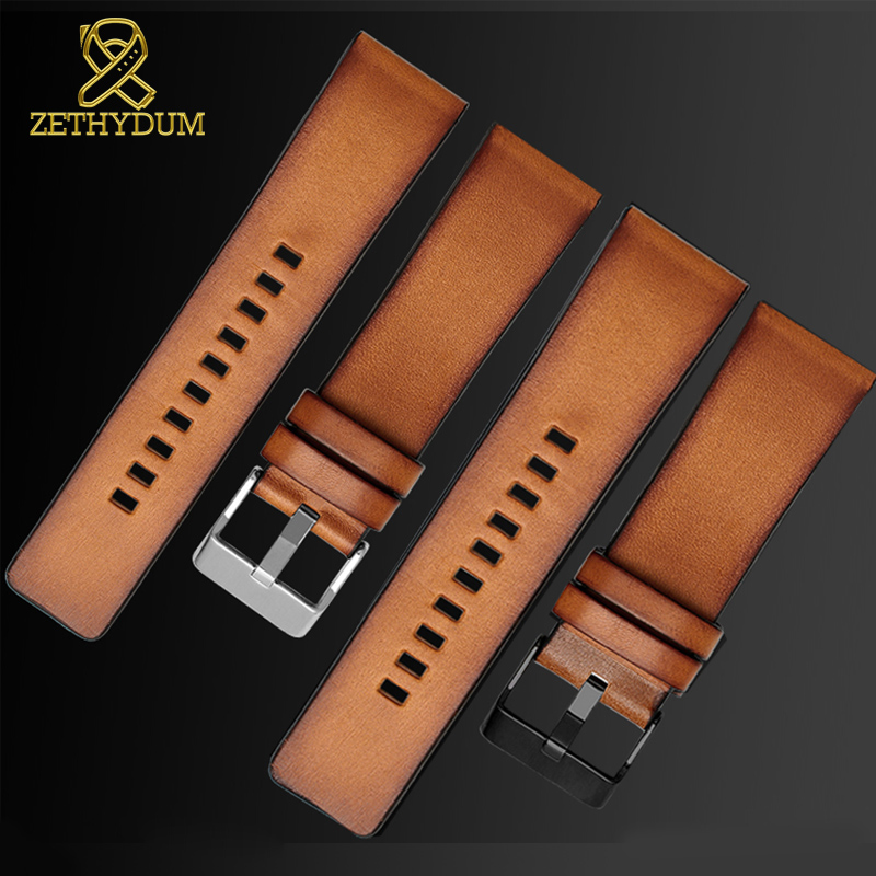 Retro Genuine Leather Bracelet 22mm 24mm 26mm Watchband For Diesel Watch Strap DZ7406 DZ7408 DZ4476 DZ4343 Wristwatches Band