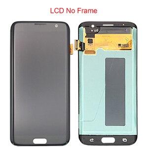 Image 3 - Zwarte Goud Super Amoled 5.5 Vervanging Voor Samsung Galaxy S7 Rand G935 G935F Lcd Display Digitizer Vergadering Met Frame