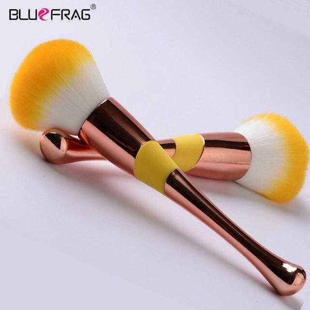 Large Rose Gold Foundation Powder Blush Brush Professional Make Up Brush Tool Set Cosmetic Very Soft Big Size Face Makeup Brushe 1