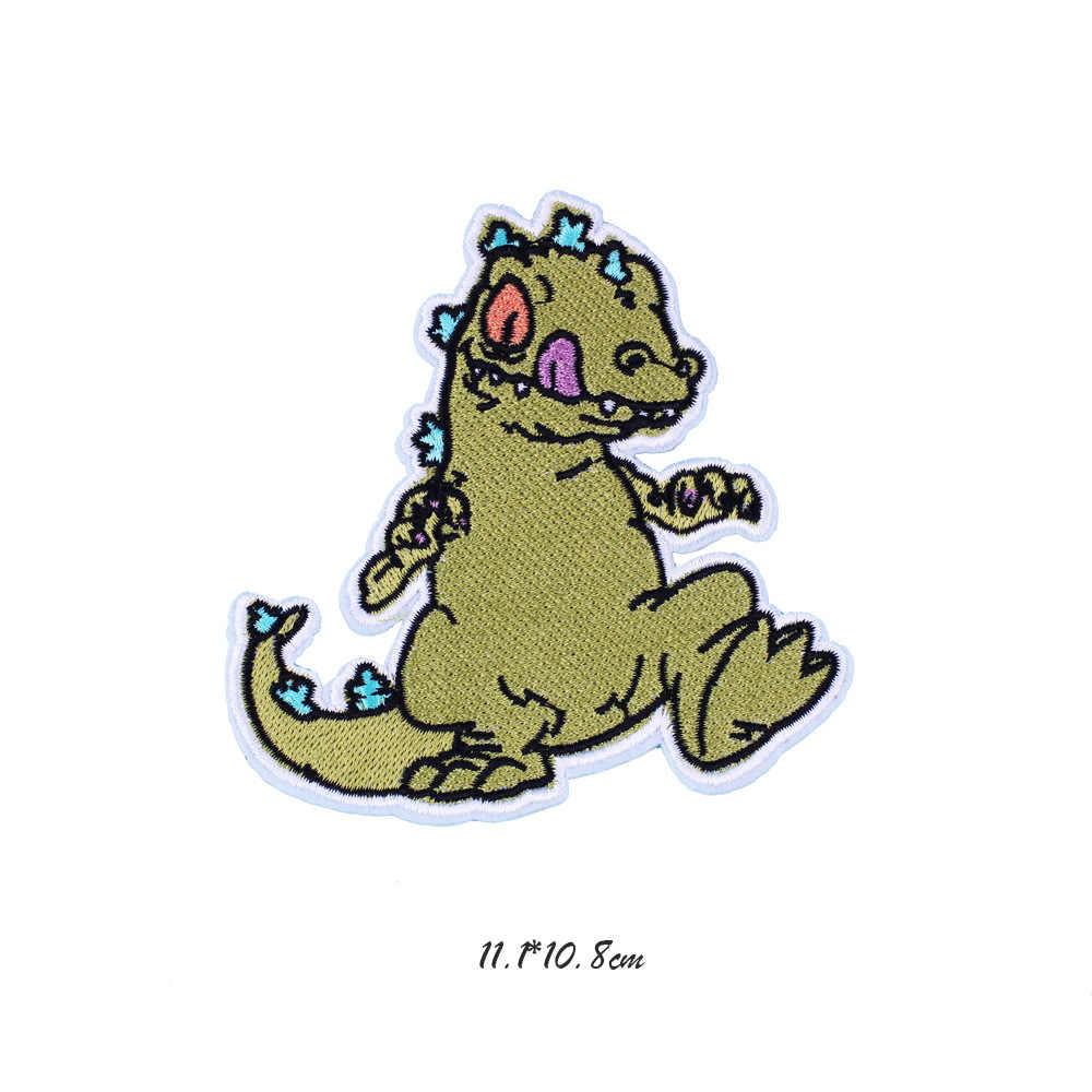 Dinosauri Cani Animali Alieni Toppe E Stemmi per I Vestiti Jean Giubbotti Adesivi Zona Del Ricamo Abbigliamento Decorazione Applique Distintivo