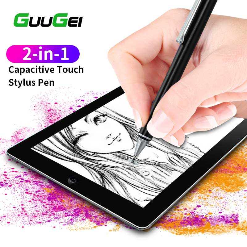 GUUGEI 2 In 1 Stylus For Smartphone Tablet Capacitive Screen Pencil Write Draw Touch Pen For Ipad Suitable All Android Device