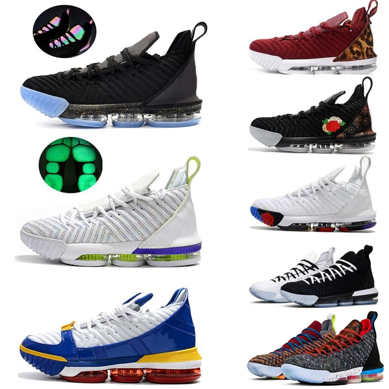 2019 New 16 16s Men Basketball Shoes Equality Oreo Court Purple Fresh Bred What The Mens Trainer Sports Sneakers Lebron XVI EP