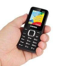 UNIWA E1801 2G GSM 1.77 Inch Feature Phone 800mAh Cellphone Wireless FM Radio Telephone Dual SIM Dual Standby for Elder Man