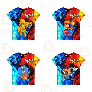T-shirty VOID GENE i Star letnie dzieci Leon odzież dziecięca strzelanka 3d Swearshirt chłopcy dziewczęta topy T-shirt ubranka dla dzieci tanie i dobre opinie Unisex 3-6y 7-12y 12 + y CN (pochodzenie) NN564D8 1 - 3cm Teenagers Kids T-shirt Cosplay 3D Printed Hoodies Boys T-shirt Girls T-shirt