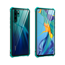 цена на Case For Huawei P30 Pro Case Metal Aluminum Bumper Tempered Glass Plastic Hybrid Back Cover for Huawei P30 Lite Ultra Thin Case