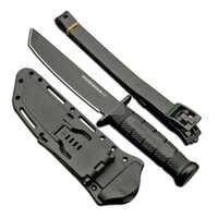 Cuchillo de hoja fija militar de Mengoing de acero frío de TANTO con mango de Kraton de acero 7Cr13Mov de dureza 58hr