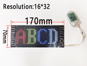 10 Languages Colorful Programmable RGB Flexible Display SignTag for ios Android App Blueteeth Contorl LED Matrix Screen