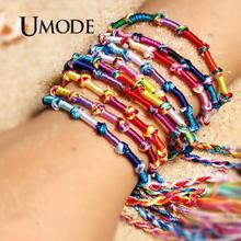 UMODE Muticolor Cotton Charms Bracelet For Women Wholesale Friendship Bracelets Handmade Jewelry Vsco Things Dropshipping PB0519