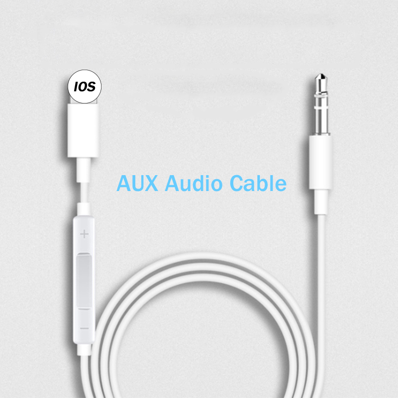 Lighting To 3.5mm Male Jack Aux Audio Extension Cable For IPad  IPhone 7 8 Plus X XS XR MAX Car Speaker Connector Adaptador Cord