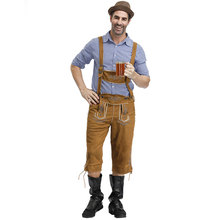 Halloween Carnival Oktoberfest Beer Lederhosen Mens Blouse Pants Hat Bavarian Costume