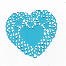 Love Shape Hollow Hearts Making Scrapbook Greeting Card Lace Metal Cutting Dies Stencil Frame Embossing Template DIY