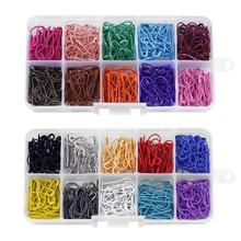 300 шт 10 цветов форма тыквы безопасные шпильки металлические зажимы Вязание стежка маркер