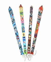 Anime meu herói academia boku nenhum herói academia pescoço cinta colhedores crachá titular corda pingente chaveiro accessorie