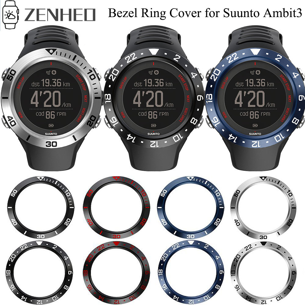 Ringke Bezel Ring Styling Frame For Suunto AMBIT3 RUN Black HR Case Cover Protector Ring Anti Scratch Protection Shell