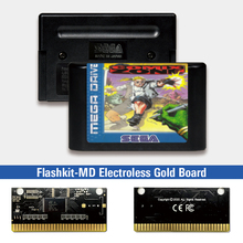 Pcb-Card Megadrive Video-Game-Console Sega Genesis Electroless Gold for Comix Zone-Eur-Label