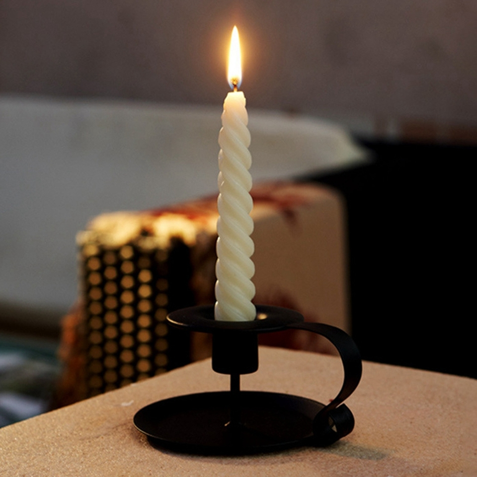 Centro de Mesa Moderno para decoraci/ón Interior y Exterior decoraci/ón del hogar candelabro Negro simpdecor Juego de 3 candelabros met/álicos de Hierro Comedor