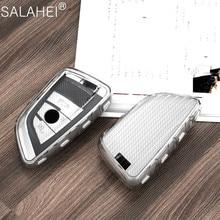 Fashion Soft TPU Car Styling Key Case Key Cover Shell For BMW X5 F15 X6 F16 G30 7 Series G11 X1 F48 F39 Auto Keyless Accessories