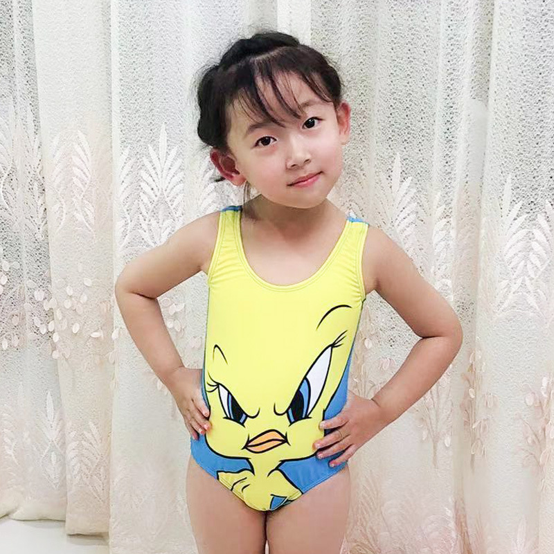 2019 New Style CHILDREN'S Swimsuit Cartoon Animation GIRL'S One-piece Swimming Suit Currently Available Manufacturers Direct Sel