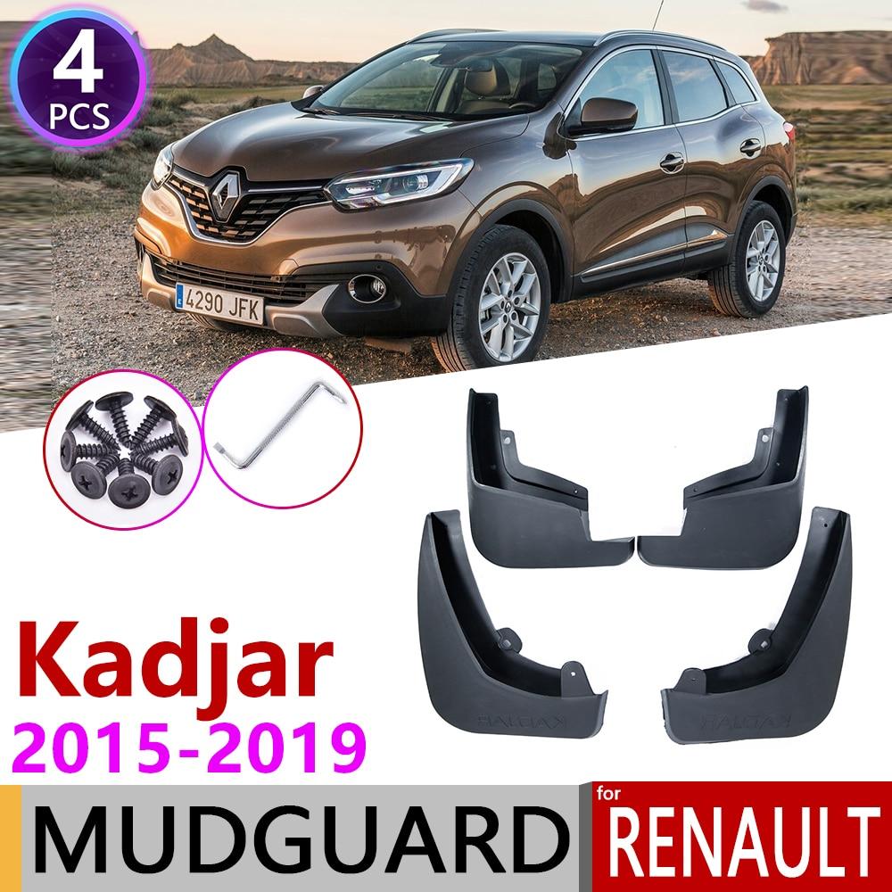 4 PCS Front Rear Mudguar for Renault kadjar 2015 2016 2017 2018 2019 Fender Mud Flaps Guard Splash Flap Mudguard Car Accessories