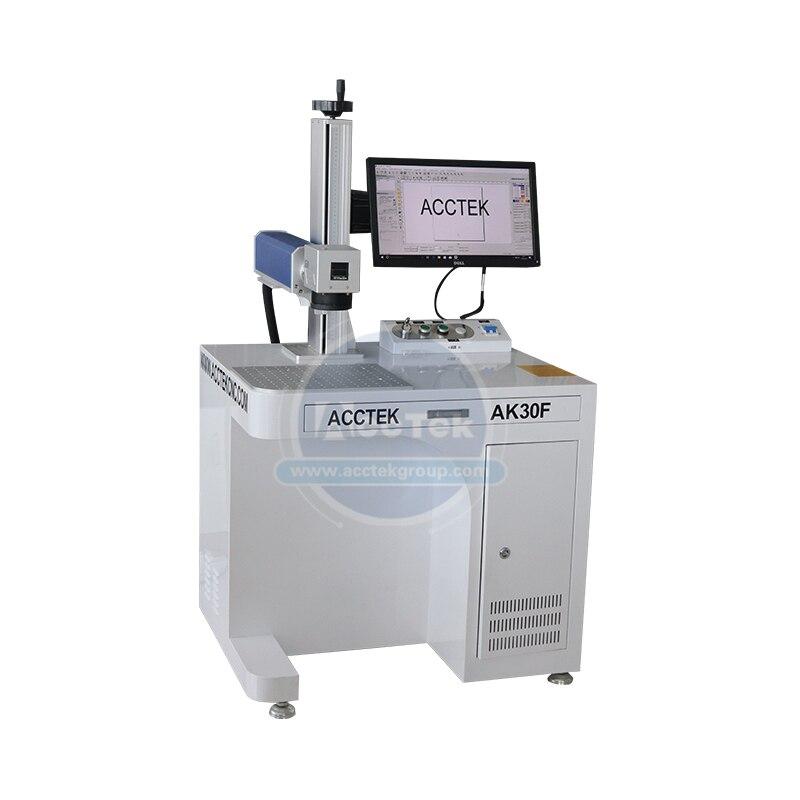 Marcador de alta velocidade do cnc da máquina da marcação do laser do metal da fibra 20w 30w 50w para a joia, placa de identificação, etiqueta do animal de estimação