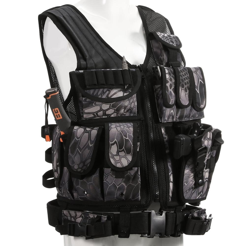 Police Tactical Vest Camouflage Outdoor Military Hunting Vest Army hunting Molle Vest Sports Wear Black