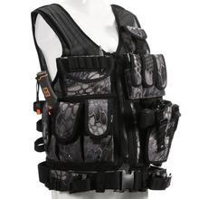 Police Tactical Vest Camouflage Outdoor Military Hunting Army Swat Molle Sports Wear Black