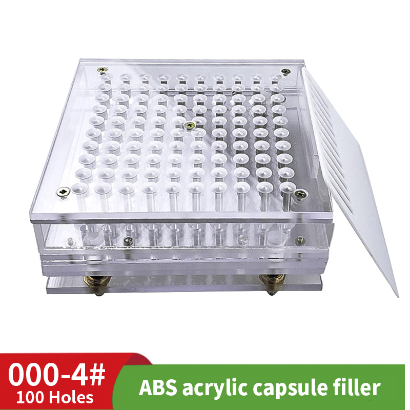 000 # 00 # 100 Hole Acrylic ABS Powder Capsule Machine Powder Filling Machine Manual Filling Tool